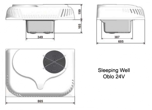 Auto Kondicionieris Indel B SLEEPING WELL OBLO 24V