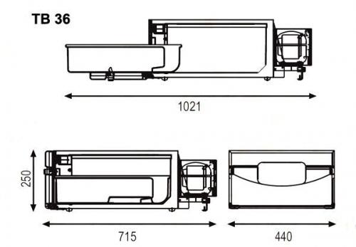 Indel B TB34AM SCANIA 12/24V 35L